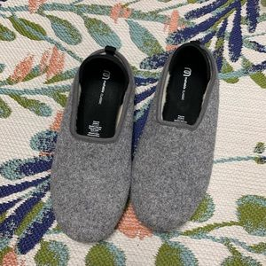 Mahabis Gray Classic Wool Slipper 41